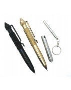 Mini pens and tactical pens in various material and sizes.