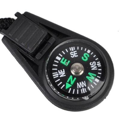 Mini Button Compass Paracord